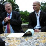 Les historiens Georges Frêche et Michaël Iancu en 2008