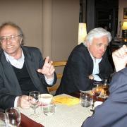 Les universitaires israéliens Moshe Idel et Eli Barnavi (La Coquille) en 2008