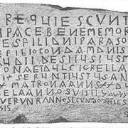 Vestige lapidaire: Pierre tombale (VIIe siècle) de Narbonne, Palais des Archevêques, la plus ancienne mention d'une présence juive régionale