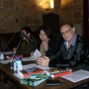 L'écrivaine Leïla Sebbar, l'historienne Danièle Iancu-Agou, directrice de recherches au CNRS et l'acteur et metteur en scène Daniel Mesguich en 2012