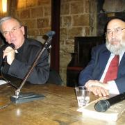 L'Evêque Olivier de Berranger et le Grand Rabbin René-Samuel Sirat en 2007