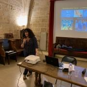 Sonia Fellous de l'Institut de Recherche et d'Histoire des Textes (IRHT) en 2019