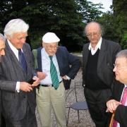 Les universitaires Carol Iancu, Elie Barnavi, Gérard Nahon, Moshe Idel et Georges Frêche en 2008