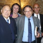 Le Recteur de la Mosquée de Paris Dalil Boubakeur, la députée de l'Hérault Anne-Yvonne Le Dain, le Bâtonnier Jacques Martin et Michaël Iancu en 2011