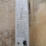 Totem sur le patrimoine juif médiéval lunellois, réalisé par la Ville de Lunel et l'Institut Maïmonide