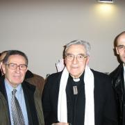 Guy Zemmour et Michaël Iancu entourant le Cardinal Lustiger en 2006.