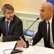 Le Grand Rabbin de France Haïm Korsia et Michaël Iancu en 2016