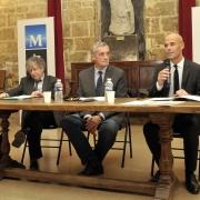 Le Maire de Montpellier Philippe Saurel, Michaël Iancu et Gilbert Dahan, octobre 2016