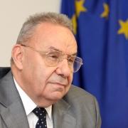 Andrei Marga, ministre des Affaires étrangères de la Roumanie (2012), ancien recteur de l'Université de Cluj, reçu par l'Institut Maïmonide en 2010, 2015 et 2018