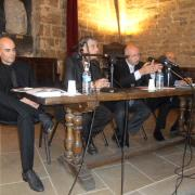 """Michaël Iancu, le journaliste et écrivain Jean-Pierre Allali, l'historien Naïm A. Güleryüz et Michel Alfandari, président de """"Cordoue Confluences"""" en 2009"""