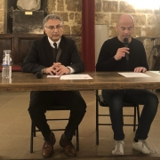 L'universitaire montpelliérain Salim Mokaddem et Michaël Iancu en 2019